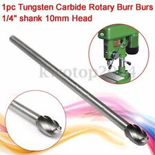 "1/4"" Shank 10MM Head 6"" Long Tungsten Carbide Aluminum Cut Rotary Burr Burs Tool"