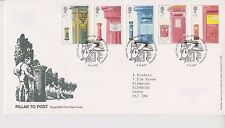 TALLENTS HOUSE  PMK GB ROYAL MAIL FDC FIRST DAY COVER 2002 POST BOXES STAMP SET