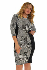 Round Neck Synthetic Textured Dresses for Women