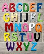 INDIVIDUAL WOODEN LETTERS ALPHABET NUMBERS PLAIN WALL ART DECORATION ALPHABET