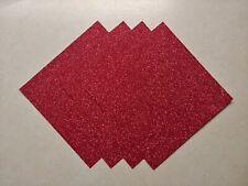 ****Stampin Up RED GLIMMER PAPER, Designer Series Paper-4 Sheets of 6x6 Paper!**