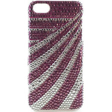 Crystal Icing Select CI1205 Case for iPhone SE 5/5s - White/Purple Stripes