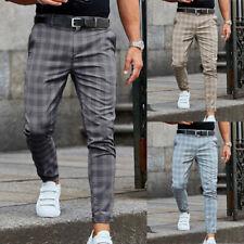Grande Taille Pantalon Gym Jogging Sport Homme Décontracté Affaires à Carreaux