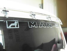 TAMIYA 1/14 MAN WHITE LOGO GRIFFINS sticker for windscreen clear background