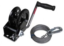 Trailer Winch 450 kg + Trailerwindenstahlseil 7,5 M Set Steel Cord LID19561