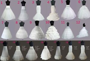 UK WEDDING BRIDAL DRESS PROM PETTICOAT HOOPS UNDERSKIRT CRINOLINE REGULAR WAIST