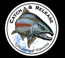 Steelhead Catch & Release Decal Fly Fishing Sticker