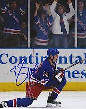"""BRENDAN SHANAHAN Signed NEW YORK RANGERS 8X10 PHOTO """"GOAL"""""""