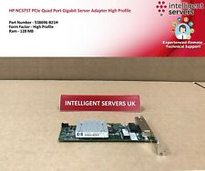 HP NC375T PCIe Quad Port Gigabit Server Adapter High Profile - 538696-B21