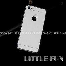 iPhone Hülle Aufkleber Carbon Glänzend Sticker Klebefolie Case für iPhone 5 Weiß