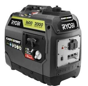 Ryobi 2000-W Super Quiet Portable Gas Inverter Generator Home RV CAMPING, SPORTS