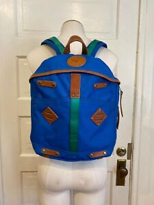 Give Will Leather Goods tan Canvas Leather Accents Backpack great shape