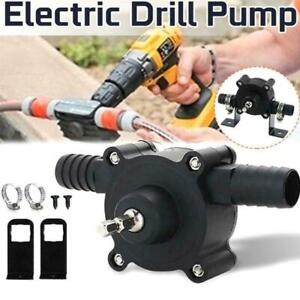 Hand Electric Drill Drive Self Priming Pump Home Oil Fluid Water Transfer J1P8