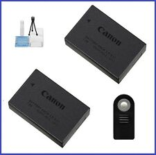 Genuine Canon LP-E17 Battery (2 pieces) + Remote Control + Camera Starter Kit