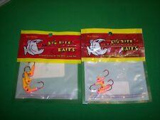 Big Bite Baits Pro Series Panfish, Crappie Jigs / 2 Pack Lot / Orange & Pink