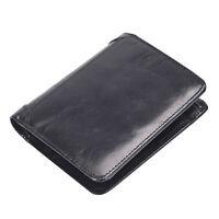 Men's Genuine Leather Money Clip Wallet ID Card holder Bifold Coin Purse Pocket