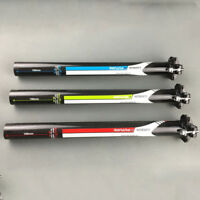 Carbon Fiber Road MTB Bike Seatpost Bicycle Seat post Tube 27.2/30.8/31.6*350mm
