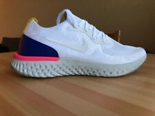 NEW Nike Epic React Flyknit White Blue Men's Running Shoes US 11 aq0070-101