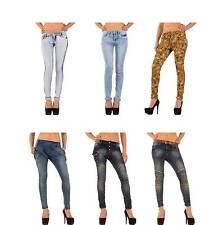 Markenlose Damen-Bootcut-Jeans mit niedriger Bundhöhe (en)