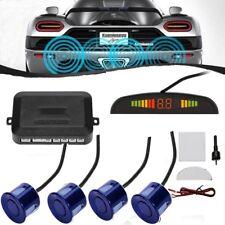 CAR REAR REVERSING PARKING SENSORS 4 SENSOR AUDIO BUZZER ALARM CANBUS KIT Blue