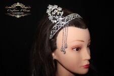 Diadème, tiara, headband, 1920´er, Gatsby, mariage, extravagant Argent/Blanc