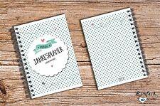 Mein Jahresplaner grüne Punkte 52 Wochen 1 Jahr Mini DIN A6 Kalender Organizer