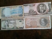 WORLD PAPER MONEY *****4 BANK NOTES***** Collectibles