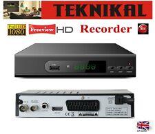 More details for teknikal full hd freeview set top box plus recorder digital tv receiver digi box