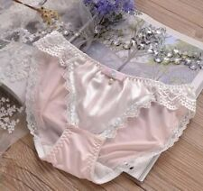 Princess LACY pink white blue prissy sissy stretch soft bikini satin panties 3XL