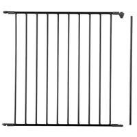 "BabyDan FLEX Easy Installation 28"" Metal Baby Safety Gate Extension Panel, Black"