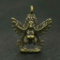 Chinese Brass Eagle Pendant Small Lucky Statue The God of Eagle Pocket Xmas Gift