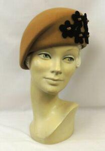 Ladies Vintage style 1930's 40's Landgirl WW2 Wartime Felt  Beret Cloche Hat