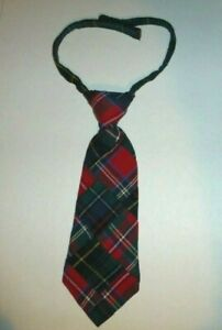 Baby Boy's Mudpie Necktie Xmas Holiday 100% Cotton Plaid Patchwork Tie