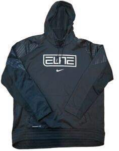 684168-010 Men's Nike Elite Therma-Fit Basketball Pullover Hoodie Black XXL (B3)