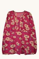 NEW EX MANTARAY  UK SIZE 10 12 14 16 PINK FLORAL JERSEY BLOUSE TOP