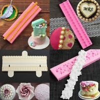 Pearl String Beads Silicone Mold Cake Decoration Fondant Sugarcraft Baking Mould