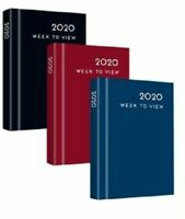 2020 Pocket Week To View Appointment Diary Hard back Casebound Diary