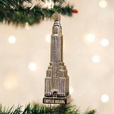 The Chrysler Building NYC Blown Glass Ornament by Old World Christmas. Retired