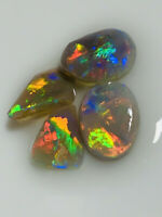 Australian Opal ROUGH L/R HIGH GRADE GEM Bright CLEAN Rubs 5cts WC1415 VIDEO