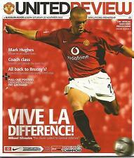 Football Programme  Manchester Utd v Blackburn Rovers - Premiership - 22/11/2003