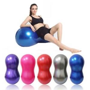 PVC Peanut Shape Yoga Exercise Workout Ball Therapy Pilates Yoga Home Gym AU