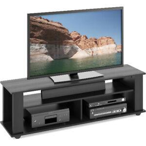 CorLiving TBF-605-B Bakersfield Ravenwood Black TV/ Component Stand (TBF605B)