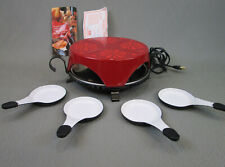 Vintage Stockli RACLETTE Grill w/ 4 Trays Switzerland TESTED