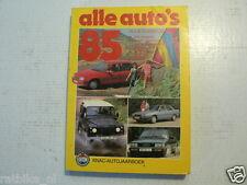 ALLE AUTO'S 1985 CAR MODELS DE TOMASO,AUDI QUATTRO,MITSUBISHI,SKODA,SAAB,SEAT,FI