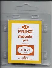 Package of 40 Prinz CLEAR Mounts 41 x 31