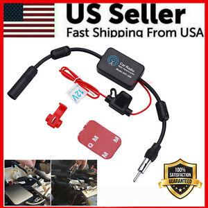 Car Auto Stereo FM & AM Radio Signal Antenna Aerial Signal Amp Amplifier Booster