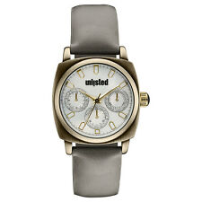 Kenneth Cole Unlisted Ladies Mother of Pearl Grey Synthet Leather Watch UL0911