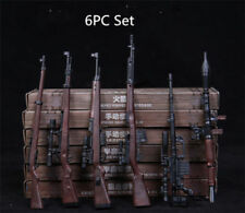 "1/6 RPG M14 Automatic Rifle Assembly Weapon Model 6pcs Set Gun Toy F 12"" Figures"