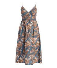 Size 18 Cotton Dress Brown Surplice V Neck Strappy Lightly Padded BNWT B-863