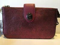 NWT Coach Metallic Berry Leather Crossbody 38934/ Hardware in Gunmetal Black